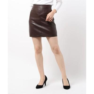 スカート エコレザータイトミニスカート