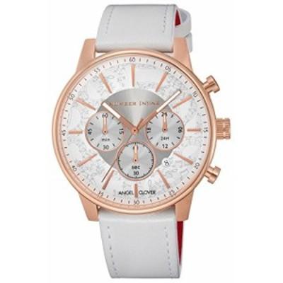 [エンジェルクローバー] 腕時計 NUMBER(N) INE ×ANGEL CLOVER COLLABORATION ホワイト文字盤 60分計クロノグラフ NNC42PWH-WH メンズ ホ