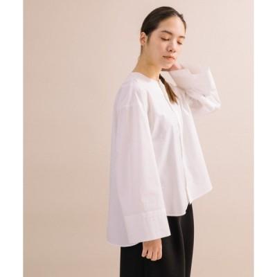シャツ ブラウス 【Liyoca】タイプライタークルーネックシャツ
