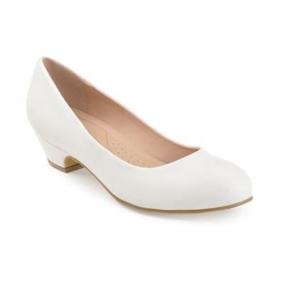 ジャーニーコレクション パンプス シューズ レディース Women's Comfort Saar Heels White