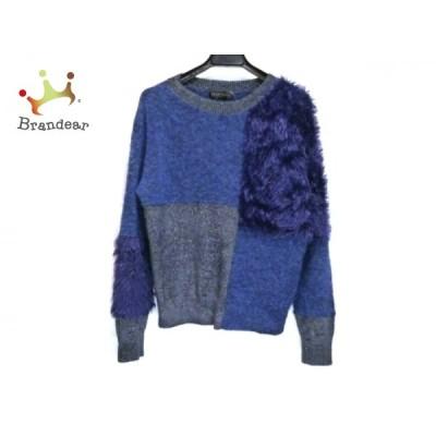 ダーマコレクション 長袖セーター サイズS レディース - ダークネイビー×ダークグレー 新着 20200701