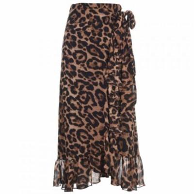 バルドー Bardot レディース スカート BD Leop Wrap Skirt BOLD LEOPARD