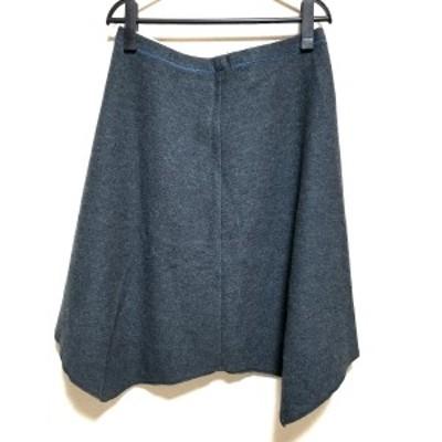 パラスパレス Pallas Palace スカート サイズ3 L レディース 美品 ダークグレー×ブルー【中古】20210610