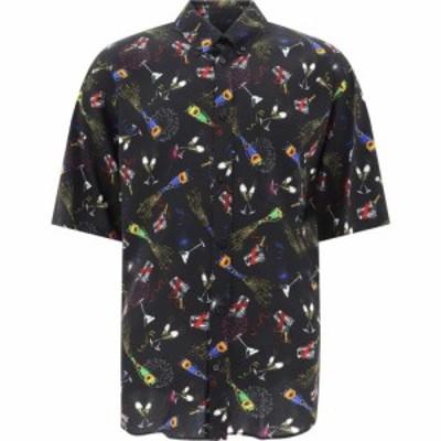 バレンシアガ Balenciaga メンズ シャツ トップス Shirt With Champagne Motif Black