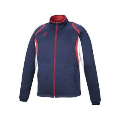アシックス 4549604812313 XAT12D デコトレーニングジャケット ネイビー サイズ:L