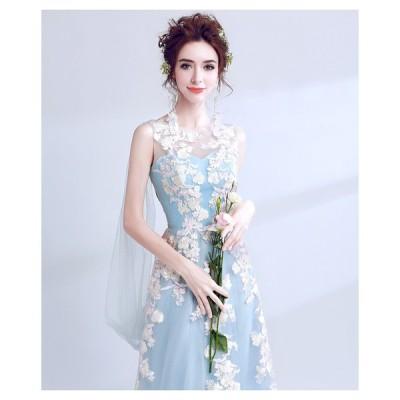 パーティードレス ロングドレス カラードレス ウエディングドレス フォーマルドレス 花嫁 イブニングドレス