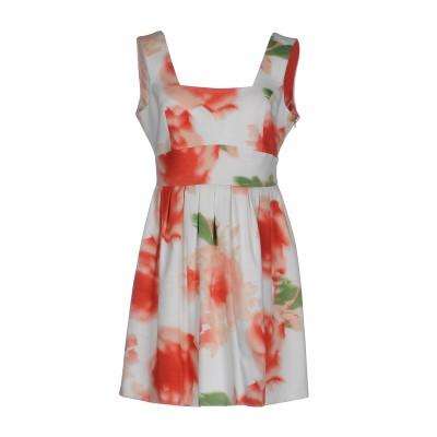 MANGANO ミニワンピース&ドレス ホワイト 44 100% コットン ポリエステル ポリウレタン ミニワンピース&ドレス