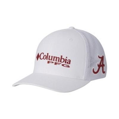 コロンビア メンズ 帽子 アクセサリー Alabama Crimson Tide PFG Stretch Fitted Cap White