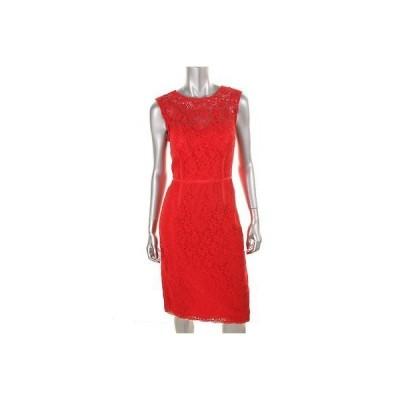 ドレス 女性  海外セレクション Jill Stuart 9533 レディース レッド Lace ノースリーブ Party Cocktail ドレス 2