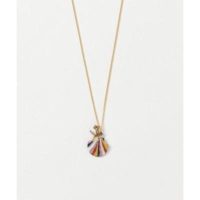 ネックレス 【Lira jewelry】シェルレインボーネックレス