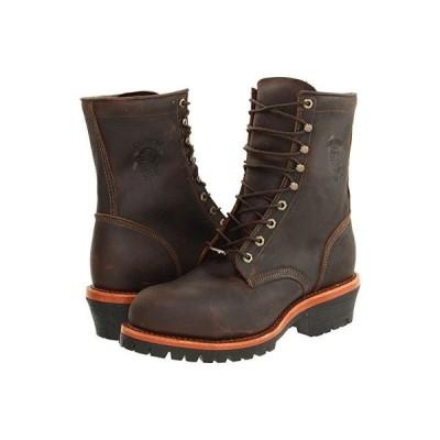 チペワ Apache Steel Toe Logger メンズ ブーツ Chocolate