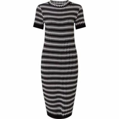 ジュームズ レイクランド James Lakeland レディース ワンピース ワンピース・ドレス Stripey Knit Dress Black/White