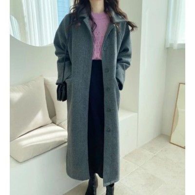 monodaily レディース コート Joy Wool Long Coat