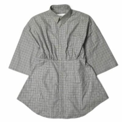FACETASM ファセッタズム 18SS 日本製 TUCK IN SHIRT タックインチェックシャツ RB-SH-W09 1(S) グレー