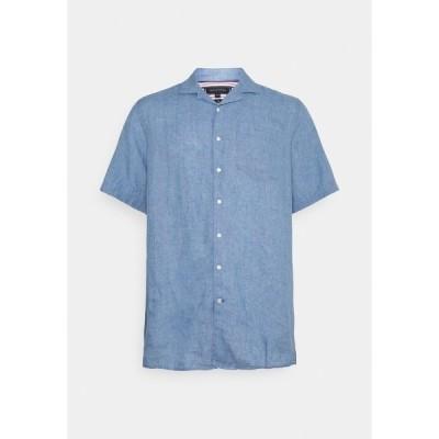 トミー ヒルフィガー シャツ メンズ トップス DYED CAMP  - Shirt - colorado indigo