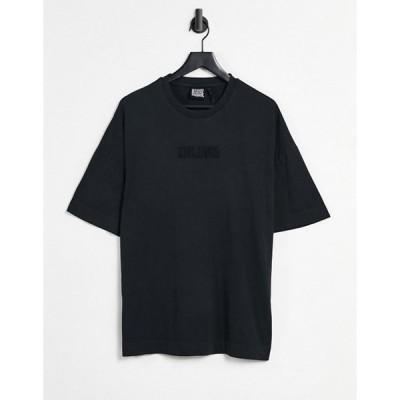 リクレイム ヴィンテージ メンズ シャツ トップス Reclaimed Vintage Inspired embroidered logo T-shirt in black