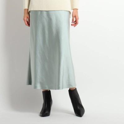 クードシャンス COUP DE CHANCE マーメイドサテンスカート (グリーン)