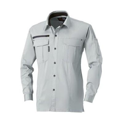 桑和(SOWA) 長袖シャツ 22/シルバーグレー S〜LLサイズ 165 作業着 作業服 ワークウェア ウエア トップス メンズ