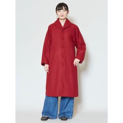 【カヤ】隠れ色コート レッド