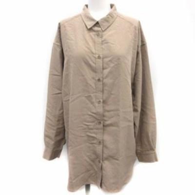 【中古】イエナ スローブ IENA SLOBE 20AW ウォッシャブルレーヨンベーシックシャツ ブラウス ブラウン レディース