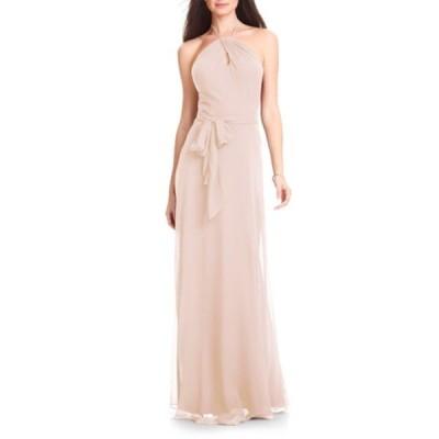 レブコフ ワンピース トップス レディース Halter Chiffon A-Line Gown Pink