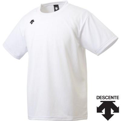◆◆○送料無料 メール便発送 <デサント> ユニセックス ワンポイントハーフスリーブシャツ DMC5801B (WHT) 半袖Tシャツ DMC5801B-WHT