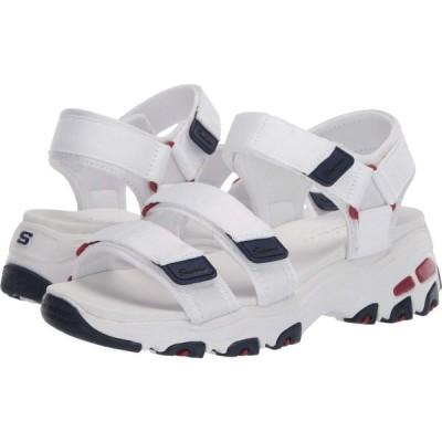スケッチャーズ SKECHERS レディース サンダル・ミュール シューズ・靴 D'Lites - Fresh Catch White/Navy