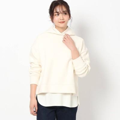 ザ ショップ ティーケー  ウィメンズ THE SHOP TK(Women) 【Furōto/フロート】ダンボールニットパーカー (オフホワイト)