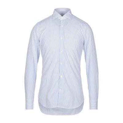GUGLIELMINOTTI シャツ ブルー 37 コットン 100% シャツ
