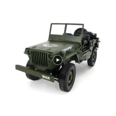 ミリタリー RCカー 1/10 トラック ジープ ラジコン オフロード 軍事 4WD コンバーチブル ミリタリー (JJRC Q65)