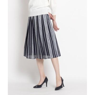 WORLD ONLINE STORE SELECT / ドビープリントタックフレアスカート WOMEN スカート > スカート