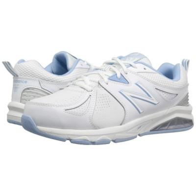 ニューバランス New Balance レディース スニーカー シューズ・靴 WX857v2 White/Light Blue