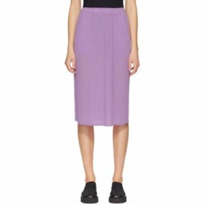 イッセイ ミヤケ Issey Miyake レディース ひざ丈スカート スカート purple pleated skirt Light purple