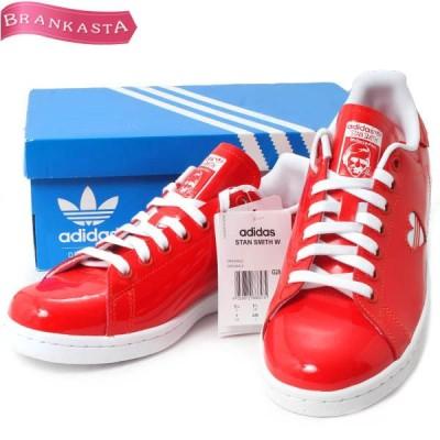 adidas アディダス スタンスミス スニーカー 24cm エナメル ハート 赤 白 \特大セール 最大90%OFF/22vm27
