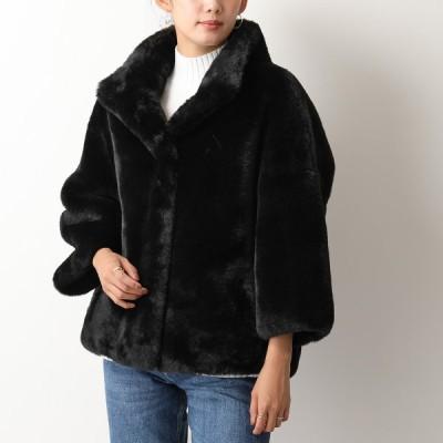S.W.O.R.D ソード 8544 EKO ショート丈 コート ジャケット ポリエステル 八分袖 BLACK レディース