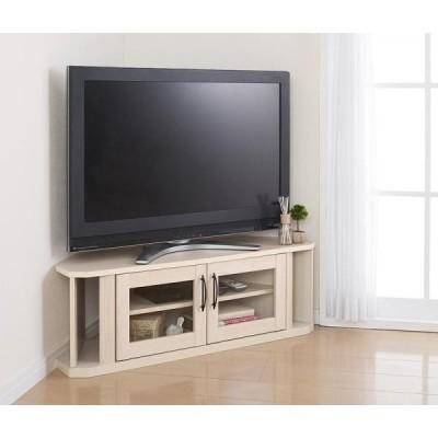 ナチュラルホワイト 超!薄型コーナーテレビボード hilppa ヒルッパ