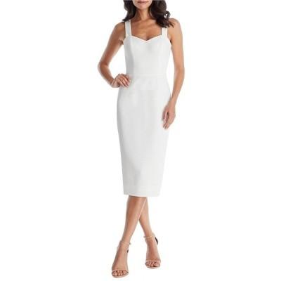 ドレスザポプレーション レディース ワンピース トップス Nicole Sweetheart Neckline Sleeveless Midi Dress Off White