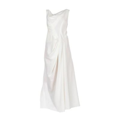 イザベル・ベネナート ISABEL BENENATO ロングワンピース&ドレス アイボリー 40 ラミー 100% ロングワンピース&ドレス