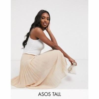 エイソス ASOS Tall レディース ひざ丈スカート スカート ASOS DESIGN Tall pleated midi skirt ベビーピンク