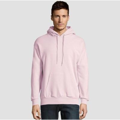 ヘインズ Hanes メンズ パーカー トップス EcoSmart Fleece Pullover Hooded Sweatshirt Pale Pink
