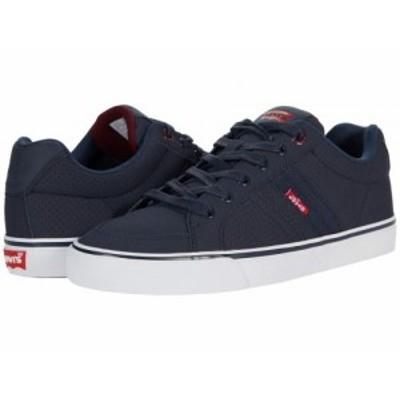 Levis(R) Shoes リーバイス メンズ 男性用 シューズ 靴 スニーカー 運動靴 Turner Pin Perforated Navy/Burgundy【送料無料】
