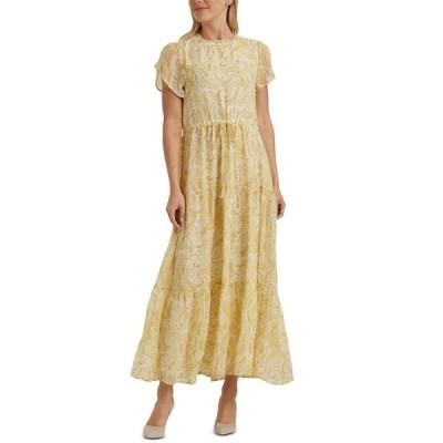 ラッキーブランド ワンピース トップス レディース Ariel Paisley-Print Tiered Dress Yellow Multi