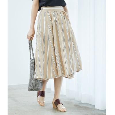 【ロペピクニック/ROPE' PICNIC】 先染めストライプスカート