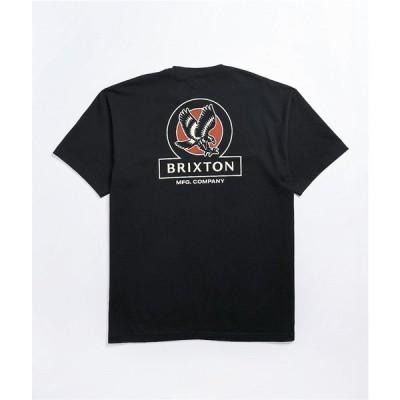 ブリクストン BRIXTON メンズ Tシャツ トップス Brixton Reach Black T-Shirt Black