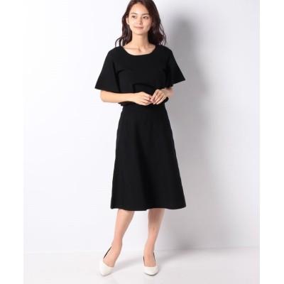【ミス ジェイ】 ハノン ウエストゴムニットドレス レディース ブラック 38 MISS J