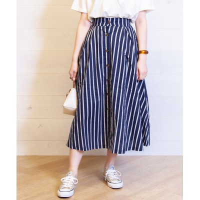 BAG IN THE DAY / Stripe Front Button Flare Skirt WOMEN スカート > スカート