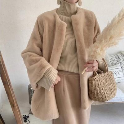 毛皮コート おしゃれ ショートコート上着 ジャケット アウター 暖かい 冬物 レディース オフィス OL 通勤 人気 フェイクファー 女性 防寒