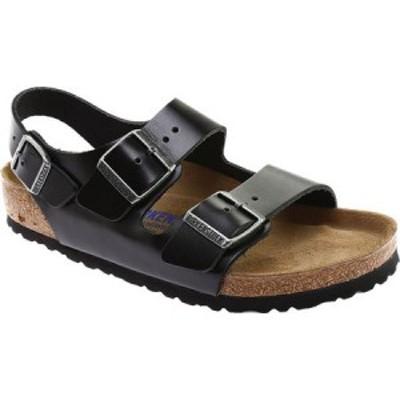 ビルケンシュトック Birkenstock レディース サンダル・ミュール シューズ・靴 Milano Amalfi Leather with Soft Footbed Black Amalfi L