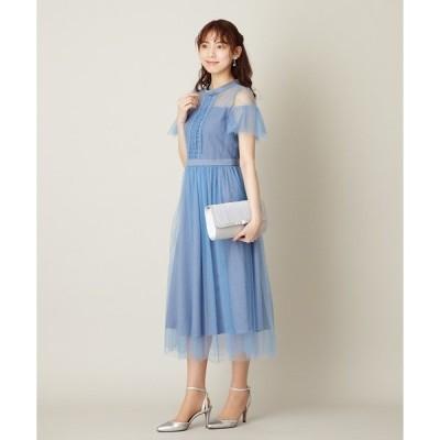 ドレス はしごレース×チュールOP / 結婚式・2次会・パーティードレス