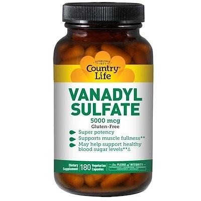 Vanadyl Sulfate, 5,000 mcg, 180 Vegetarian Capsules